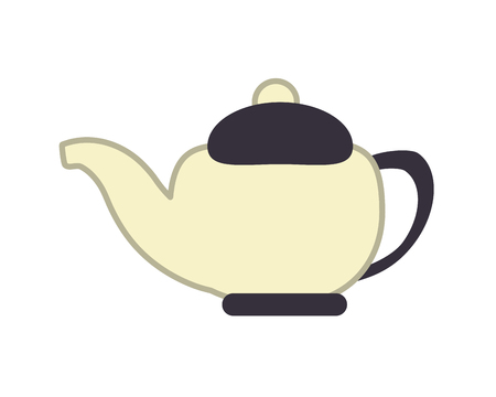 flat design porcelain teapot icon vector illustration