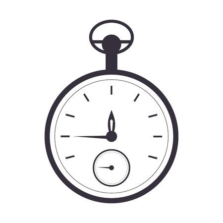 pocket watch: flat design pocket watch icon vector illustration