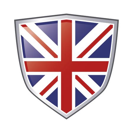 bandera de gran bretaña: flat design great britain flag emblem icon vector illustration Vectores