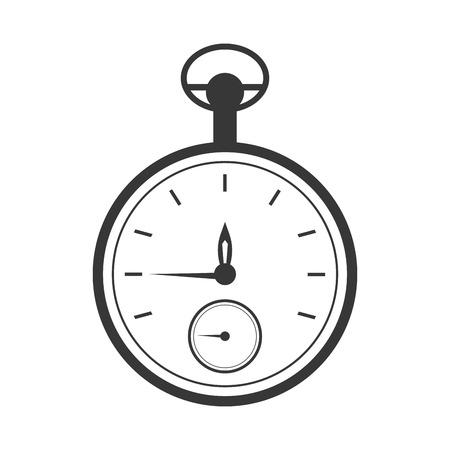 cronógrafo: diseño plano reloj de bolsillo de la ilustración del vector del icono