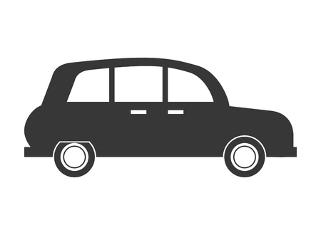 flat design classic car sideview icon vector illustration