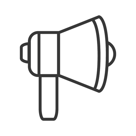 announce: megaphone amplifer announce speech icon. Flat and isolated design. Vector illustration