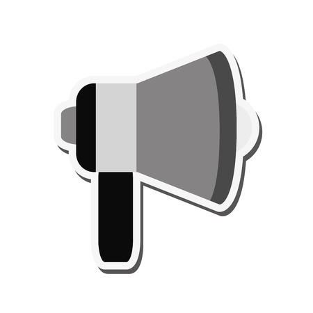 to announce: megaphone amplifer announce speech icon. Flat and isolated design. Vector illustration