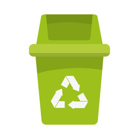 basura organica: reciclar la basura org�nica eco ecolog�a icono de protecci�n natural. Dise�o plano y aislado. ilustraci�n vectorial