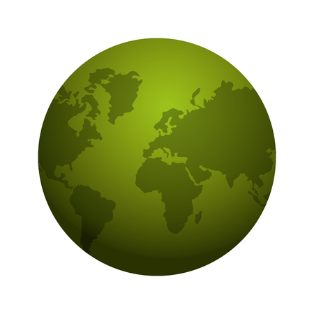 cartography: planet earth world map cartography icon. Flat and isolated design. Vector illustration Illustration