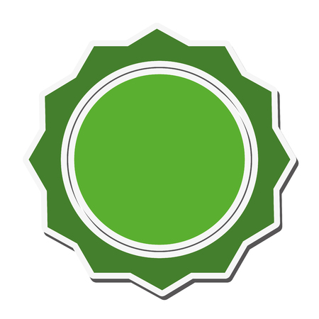 stamp seal: seal stamp label banner circle icon. Flat and isolated design. Vector illustration