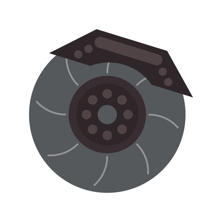 machine part: wheel car automobile circle machine part icon. Flat and Isolated design. Vector illustration