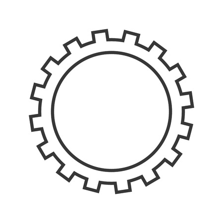 machine part: gear cog circle machine part icon. Flat and Isolated design. Vector illustration