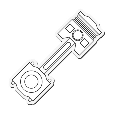 machine part: car automobile machine part icon. Flat and Isolated design. Vector illustration