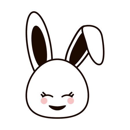 design plat de lapin mignon vecteur de bande dessinée illustration