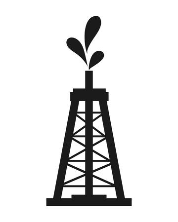 oilwell: flat design Oil tower icon vector illustration