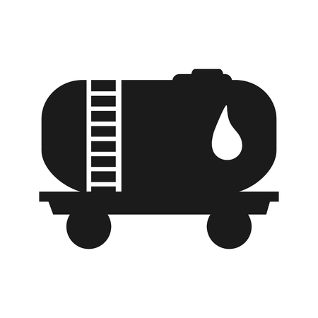 cistern: flat design Fuel tanker truck or cistern truck icon vector illustration