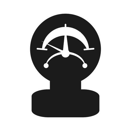 manometer: flat design single manometer icon vector illustration