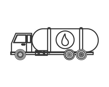 cisterna: plana cami�n cisterna de combustible de dise�o o ilustraci�n del vector del icono de camiones cisterna