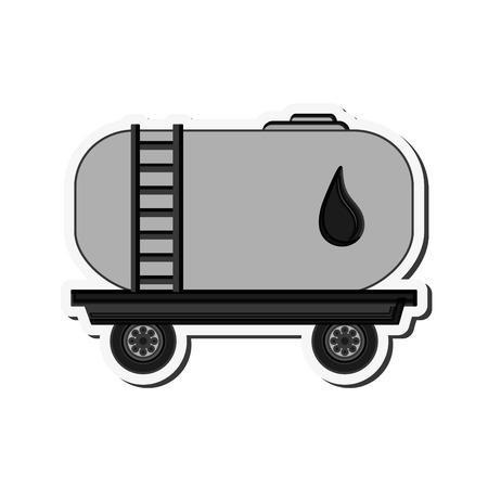 cisterna: flat design Fuel tanker truck or cistern truck icon vector illustration