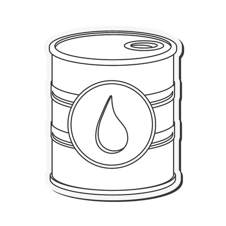 stock listing: flat design oil barrel icon vector illustration Illustration
