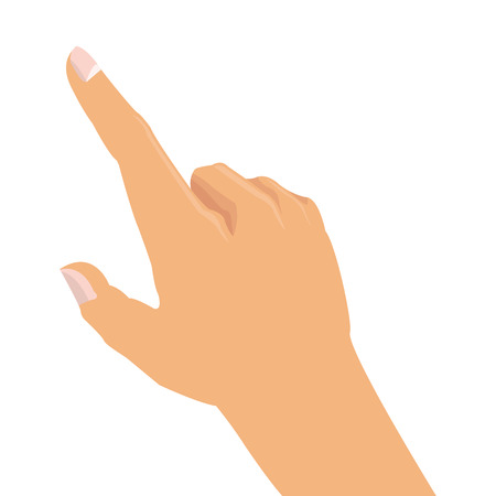 pointing hand: flat design hand pointing with index finger icon vector illustration