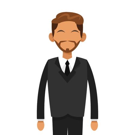 flat design faceless businessman icon vector illustration Illustration