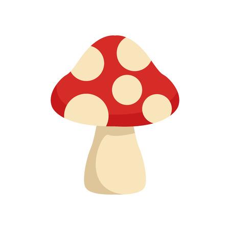 eatable: flat design mushroom spots icon vector illustration Illustration