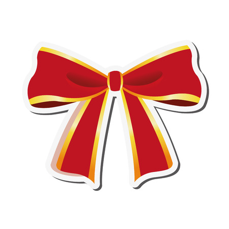 flat design decorative bow icon vector illustration