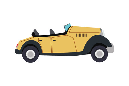 convertible car: flat design vintage convertible car icon vector illustration Illustration