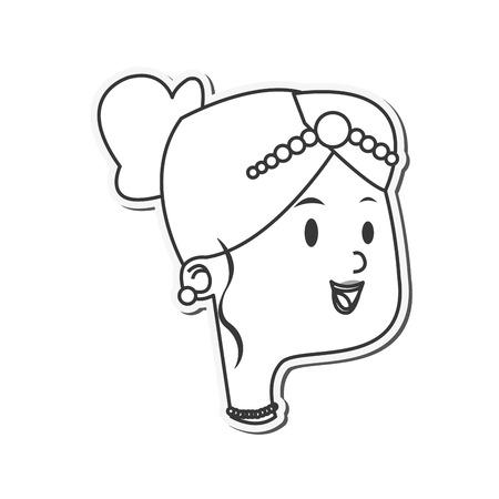 alluring: flat design happy bride icon vector illustration