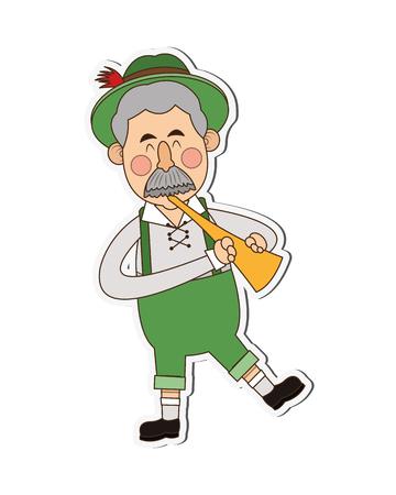 bavarian: flat design bavarian musician icon vector illustration
