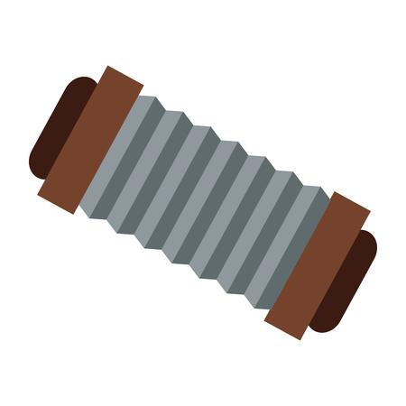 concertina: flat design single accordeon icon vector illustration