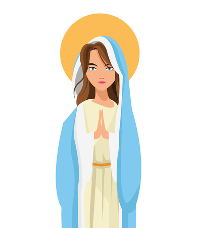 flat design holy virgin mary icon vector illustration Ilustração