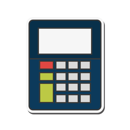 calculator tool instrument digital math  icon. Flat and isolated design. Vector illustration