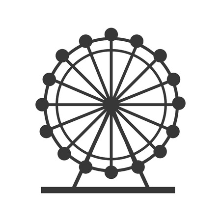 british culture: eye london england landmark culture europe icon. Flat and isolated design. Vector illustration