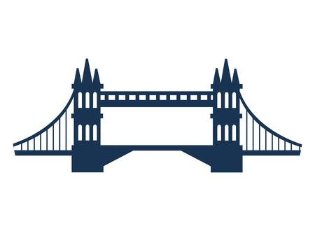 british culture: bridge london england landmark culture europe icon. Flat and isolated design. Vector illustration Illustration