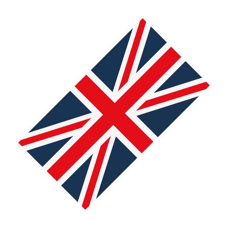 british culture: flag london england landmark culture europe icon. Flat and isolated design. Vector illustration Illustration