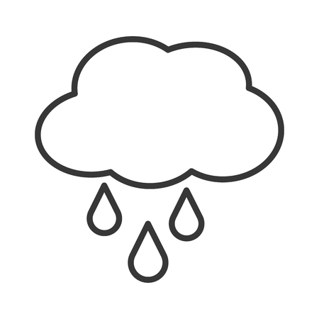 cloud drop rain raining weather sky nature season climate  icon. Flat and isolated design. Vector illustration
