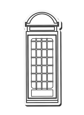 british culture: telephone london england landmark culture europe icon. Flat and isolated design. Vector illustration Illustration