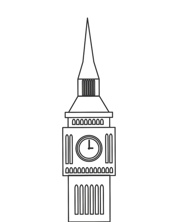 big ben london: big ben london england landmark culture europe icon. Flat and isolated design. Vector illustration Illustration