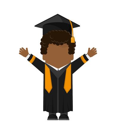 boy man male cartoon graduation cap university cloth icon. Flat and isolated design. Vector illustration Illustration