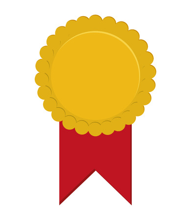 seal stamp ribbon winner competition icon. Flat and isolated design. Vector illustration Illustration