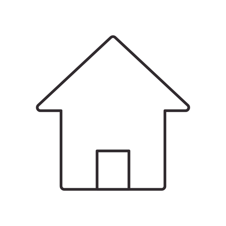 residential neighborhood: house home door building real estate silhouette icon. Flat and isolated design. Vector illustration Illustration
