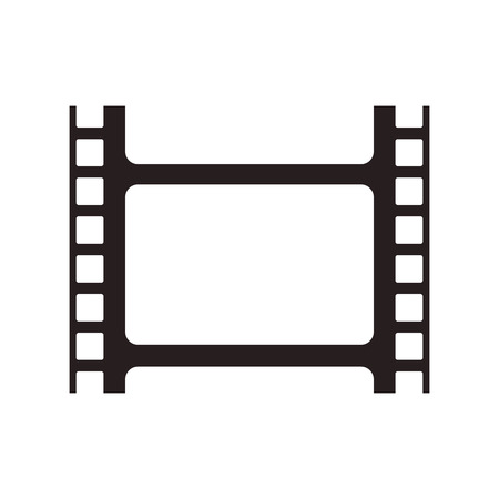 entertainment icon: film strip cinema movie entertainment icon. Flat and isolated design. Vector illustration