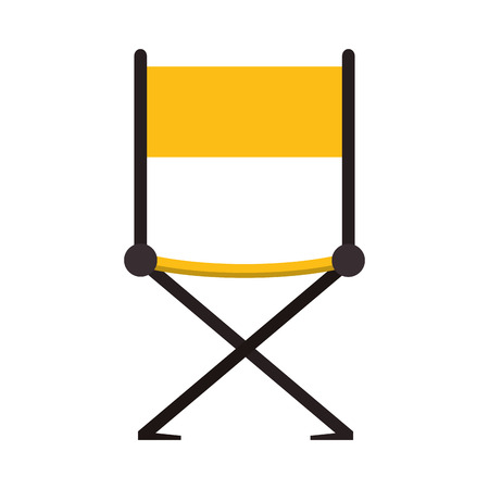 directors: directors chair cinema movie film entertainment icon. Flat and isolated design. Vector illustration Illustration