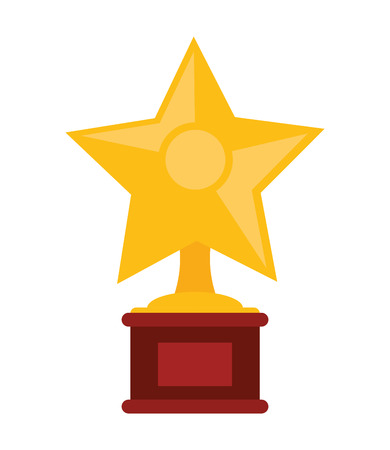 entertainment icon: star trophy winner cinema movie film entertainment icon. Flat and isolated design. Vector illustration Illustration