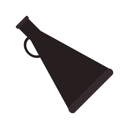 to announce: megaphone amplifer announce speech message silhouette icon. Flat and isolated design. Vector illustration