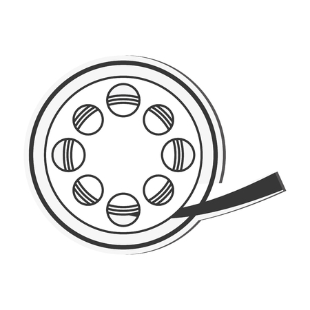 entertainment icon: film reel cinema movie entertainment icon. Flat and isolated design. Vector illustration Illustration