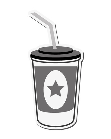entertainment icon: soda coke star cinema movie film entertainment icon. Flat and isolated design. Vector illustration
