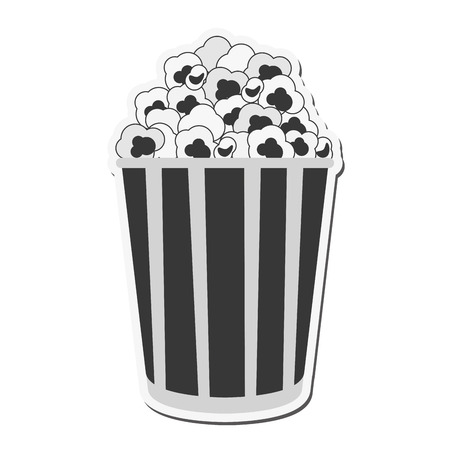 pop corn: pop corn cinema movie film entertainment icon. Flat and isolated design. Vector illustration Illustration