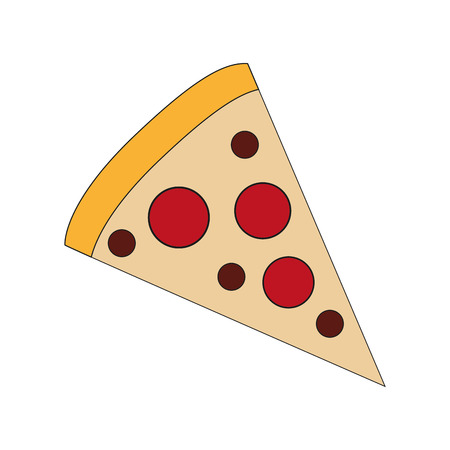 consume: pizza fast food menu restaurant lunch icon. Flat and isolated design. Vector illustration