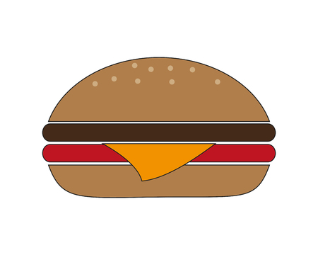 consume: hamburger fast food menu restaurant lunch icon. Flat and isolated design. Vector illustration