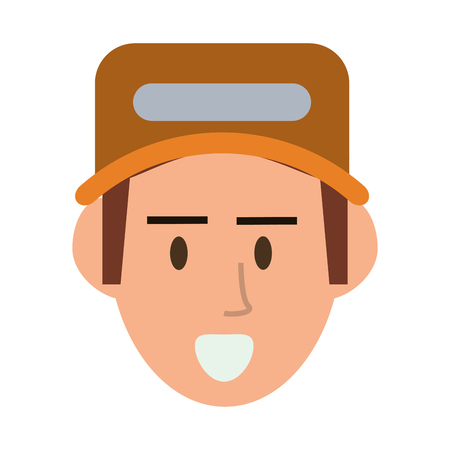 proffesional occupation: repairman hat builder constructer worker proffesional icon. Flat and isolated design. Vector illustration