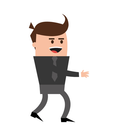 businessman man male cartoon worker proffesional icon. Flat and isolated design. Vector illustration Illustration